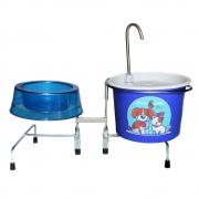 Comedouro e Bebedouro Fonte Gatos e Cães 18 cm Azul
