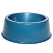 Comedouro Médio 1000 ml Clássica Gato e Cachorro - Azul
