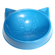 Comedouro Pequeno Cara de Gato 100 ml para Gatos - Azul