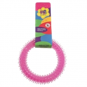 Brinquedo Mordedor Dental Pet Argola 12 cm - Rosa