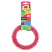 Brinquedo Mordedor Dental Pet Argola 12 cm - Vermelho