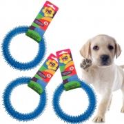 Mordedor Para Cachorro Cães Argola Brinquedo Pet 3 UND