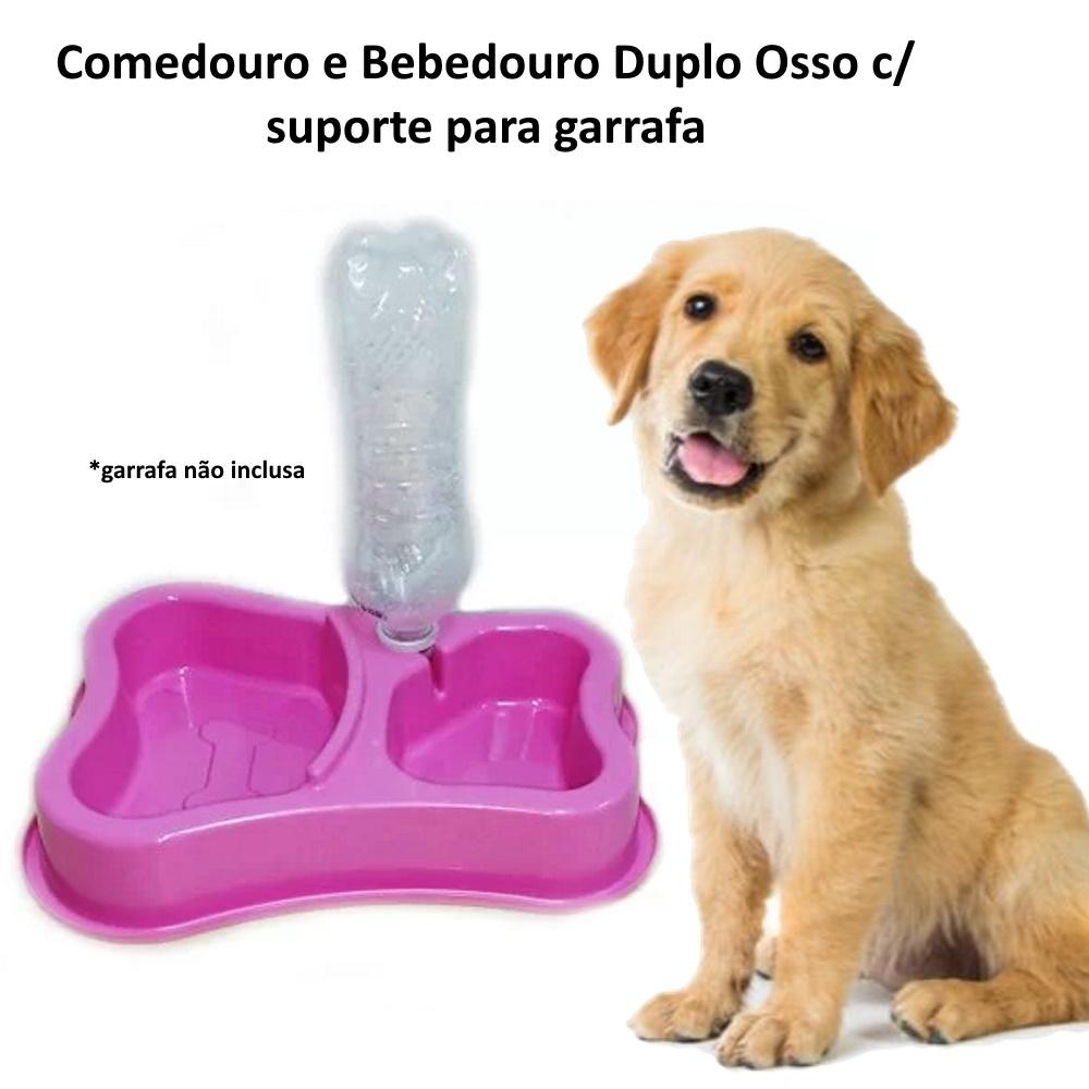 Bebedouro Comedouro Duplo Anti-Formiga Cachorro Gatos Oferta