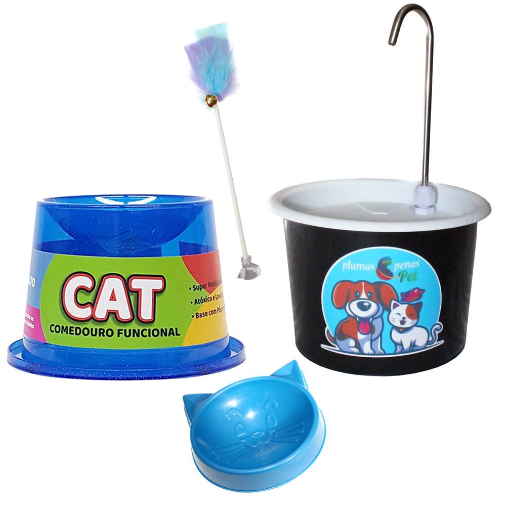 Bebedouro Gato 1,5L Tipo Fonte com Comedouro 1F