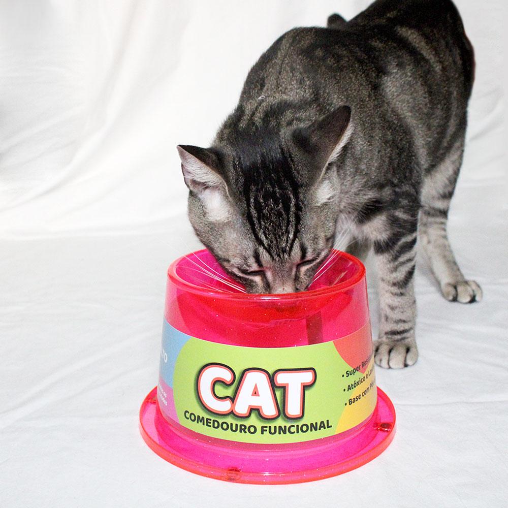 Bebedouro Gatos Tipo Fonte com Comedouro Alto 1C