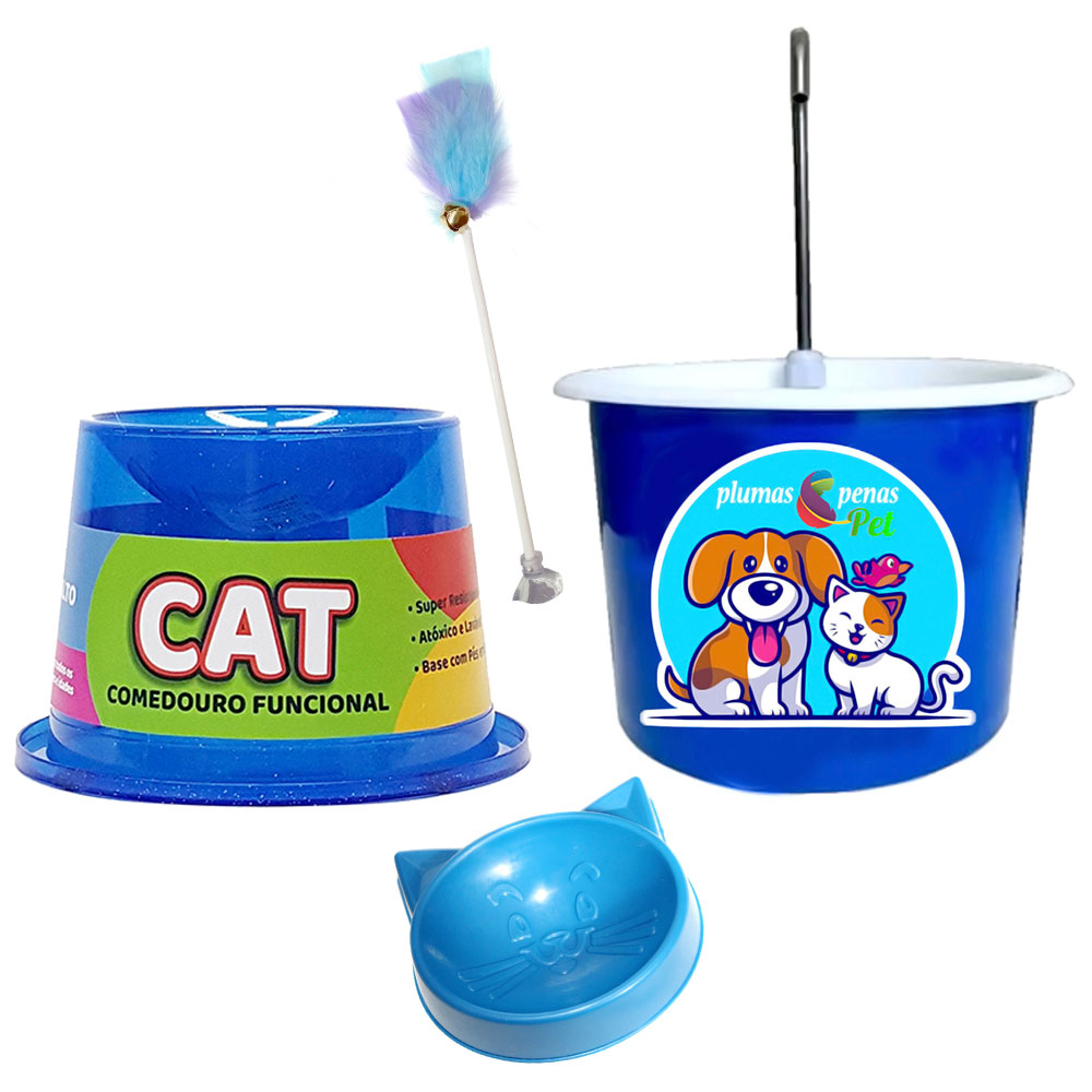 Bebedouro P/ Gato + Comedouro Ergonômico 1A