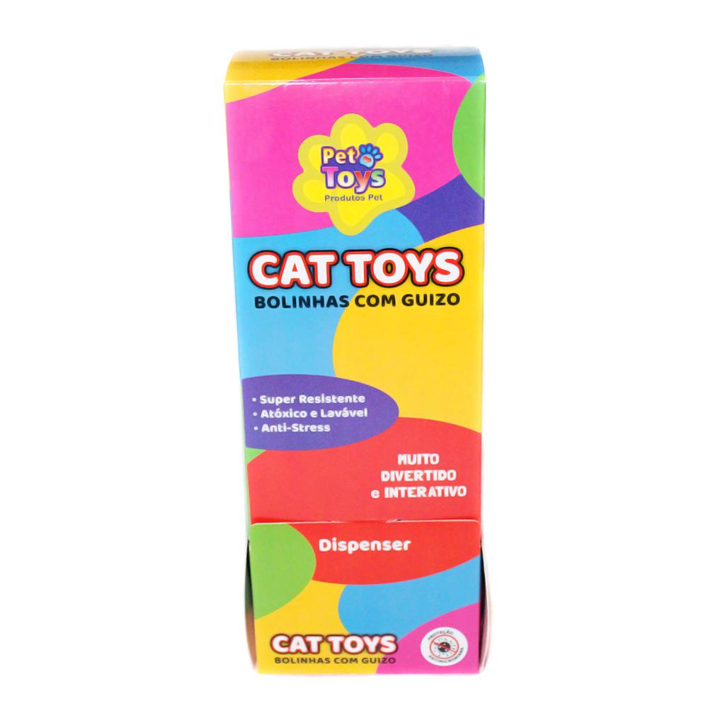 Bolinhas Cat Toys 04 cm com Guizo para Gatos 36 Unidades