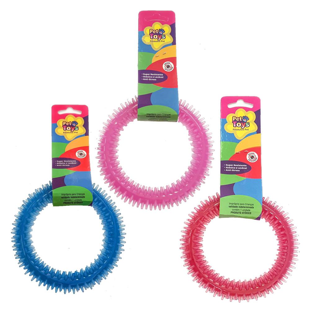 Brinquedo Mordedor Dental Pet Argola 12 cm
