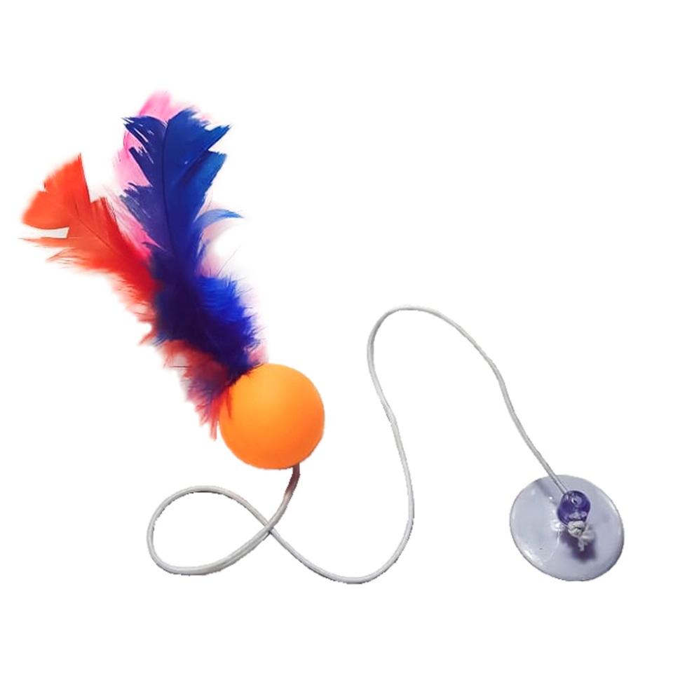 Brinquedos para Gatos Bolinha Elastica - Kit com 8 unidades