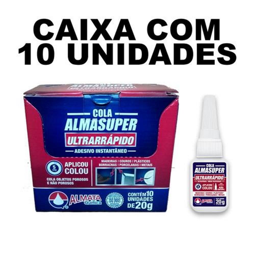 Cola Instantânea Contato Ultrarrápido 20G Caixa 10 und