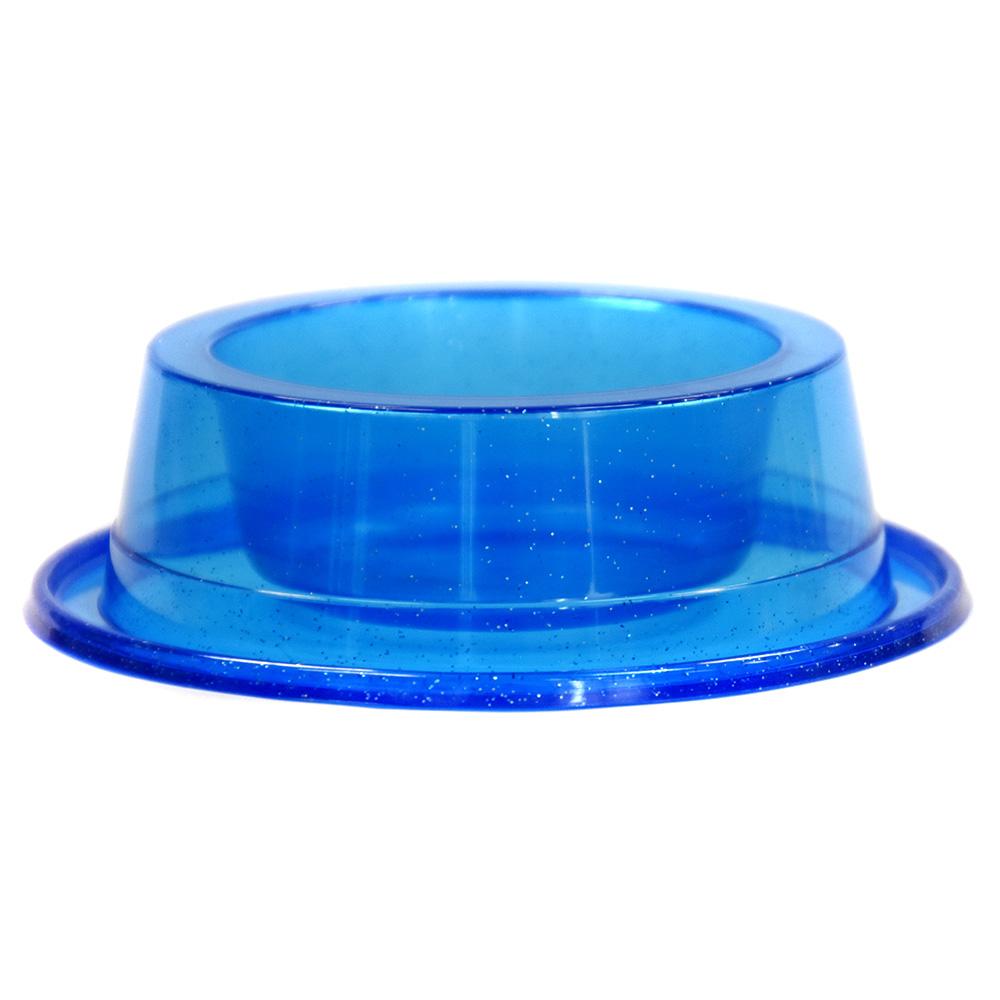 Comedouro Antiformiga 300 ml Glitter Gatos Cachorros - Azul