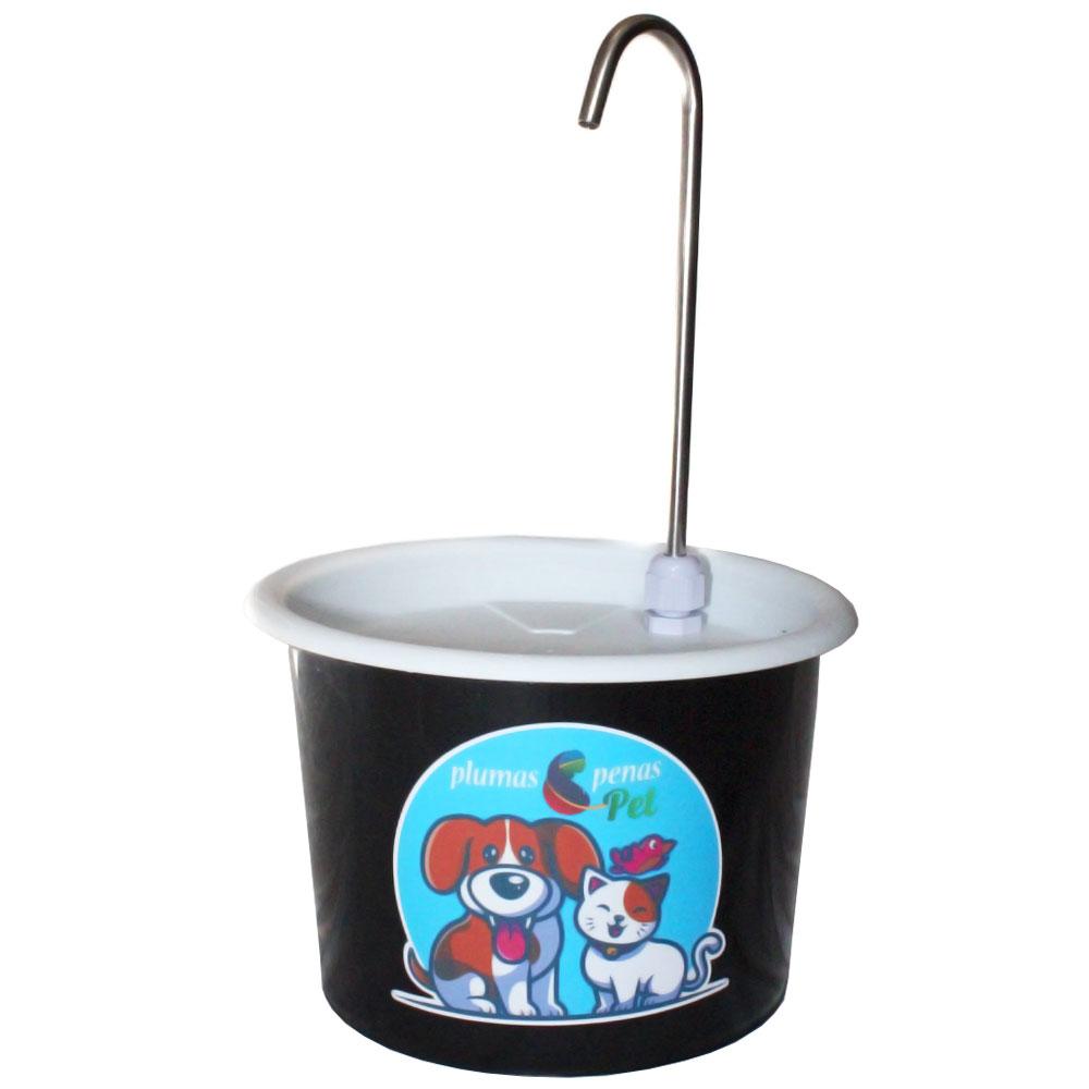 Comedouro e Bebedouro Fonte Gatos e Cães 18 cm Preto