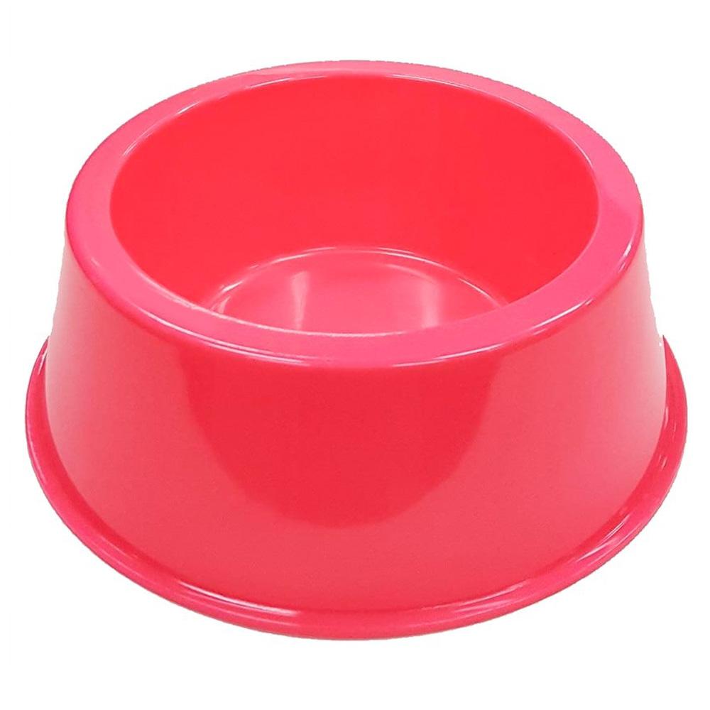 Comedouro Médio 1000 ml Neon Cachorro e Gato - Rosa Neon