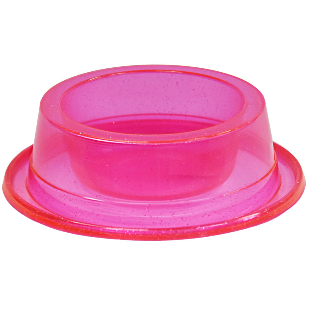 Comedouro Médio Antiformiga 1000 ml Glitter Cães - Rosa