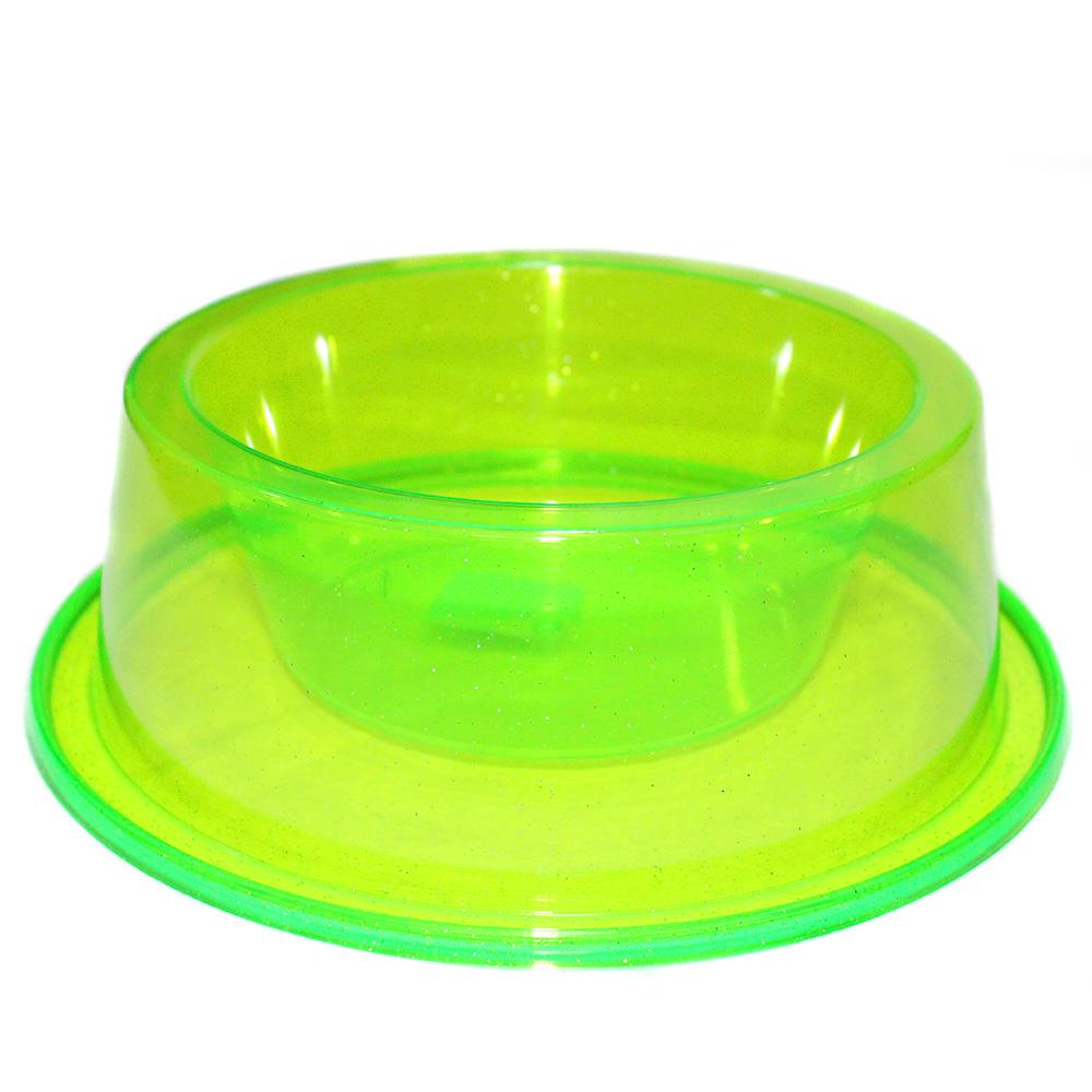 Comedouro Médio Antiformiga 1000 ml Glitter Cães - Verde