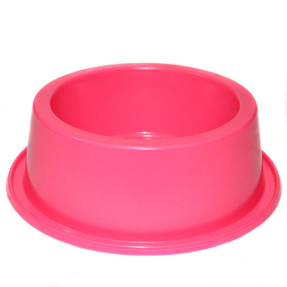 Comedouro Médio Antiformiga 1000 ml Neon Cães - Rosa Neon