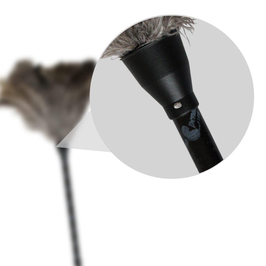 Espanador de Pó Pena de Avestruz Grande 66 cm Tira Poeira Pó