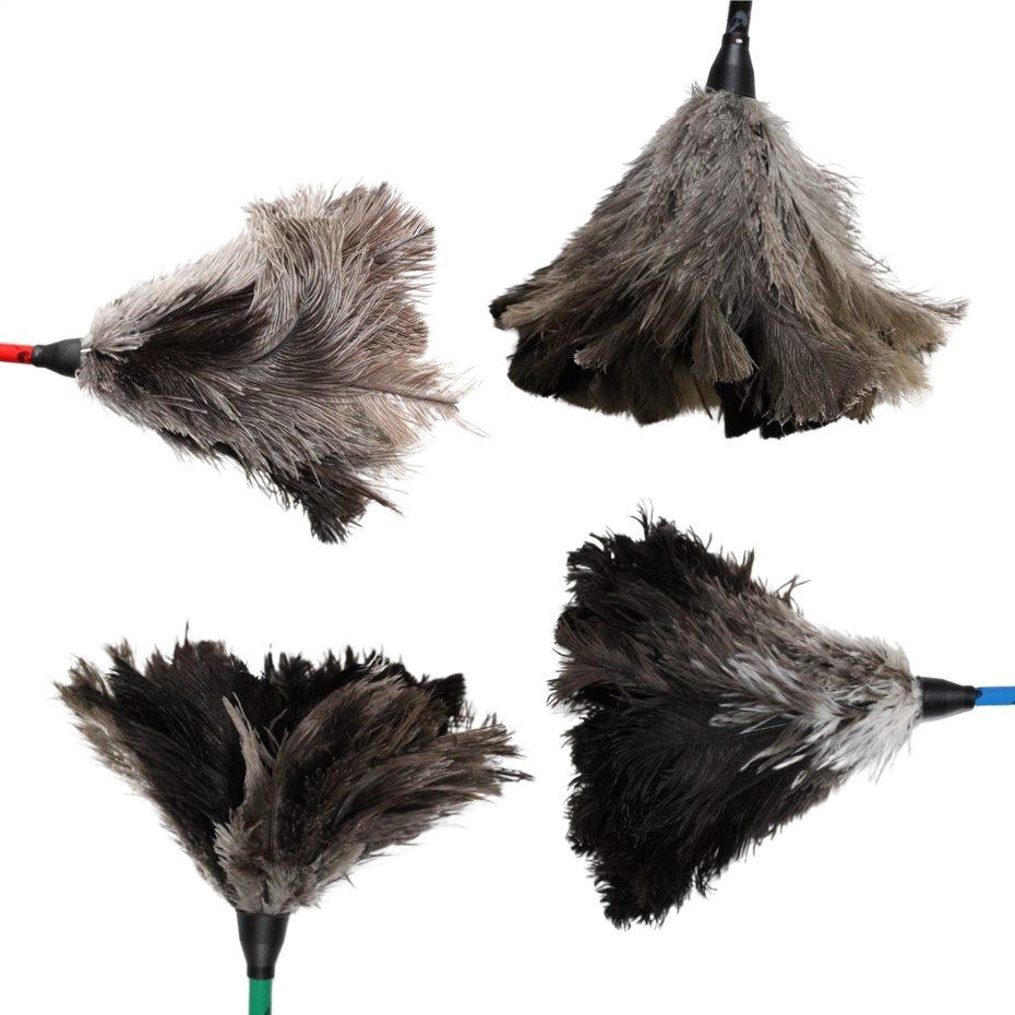 Espanador de Pó Pluma de Avestruz Multiuso - 35 cm