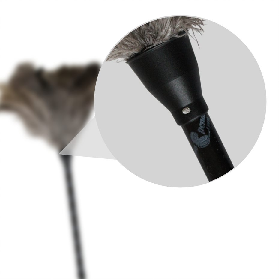 Espanador Pena de Avestruz 66cm Limpa Tira Poeira Pó