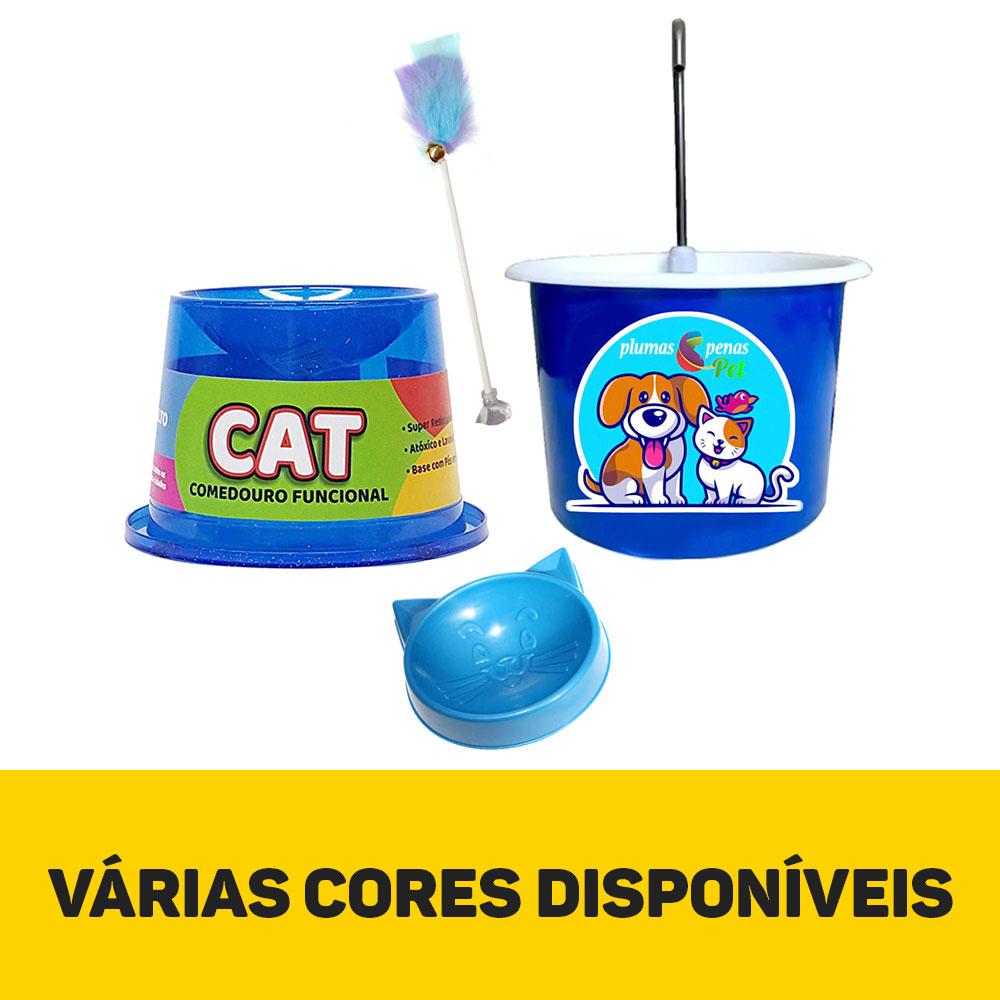 Kit Bebedouro Fonte e Comedouro Ergonômico + 2 Brindes