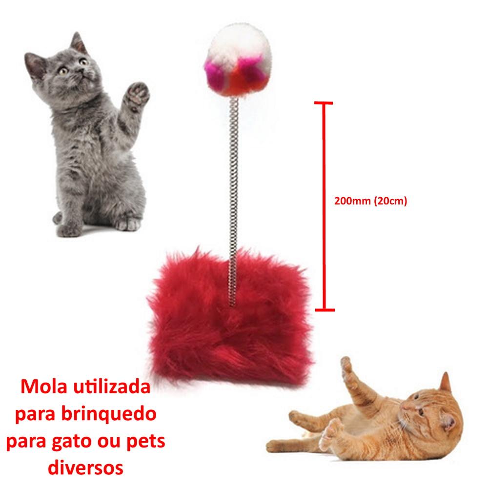 Mola Brinquedo p/ Gato Varinha Pets Pena Pet Shop Kit 10 UND
