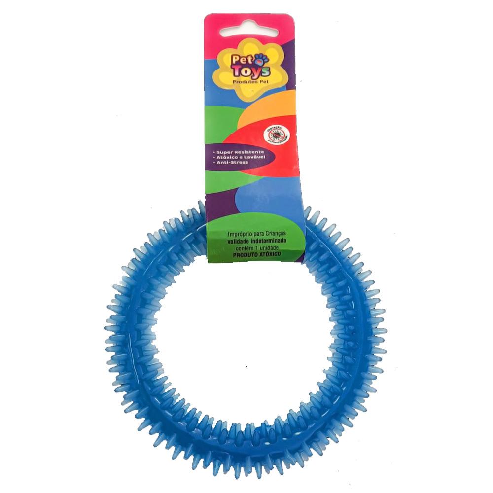 Mordedor Dental Pet Argola 12 cm para Cães - Azul
