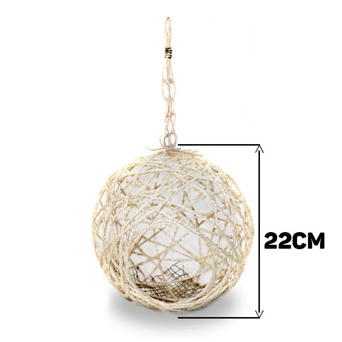 Ninho para Pássaro Sisal Lavável Tamanho G 22cm - Natural