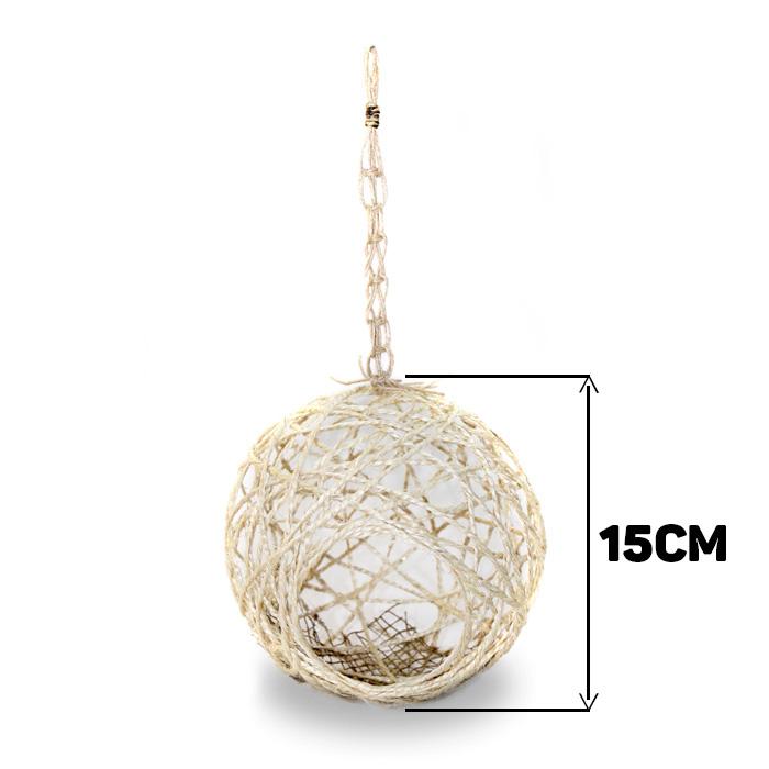 Ninho para Pássaro Sisal Lavável Tamanho M 15cm - Natural