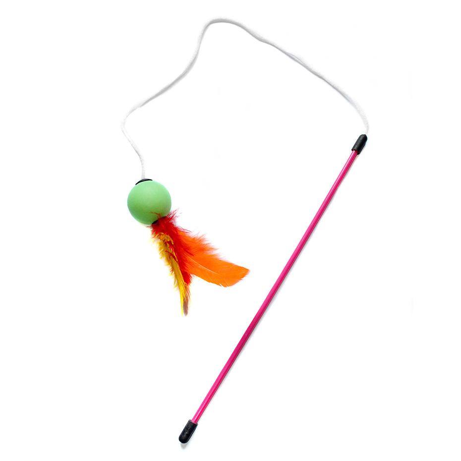 Varinha para Gatos Cat Fishing Ball Brinquedo Sortido