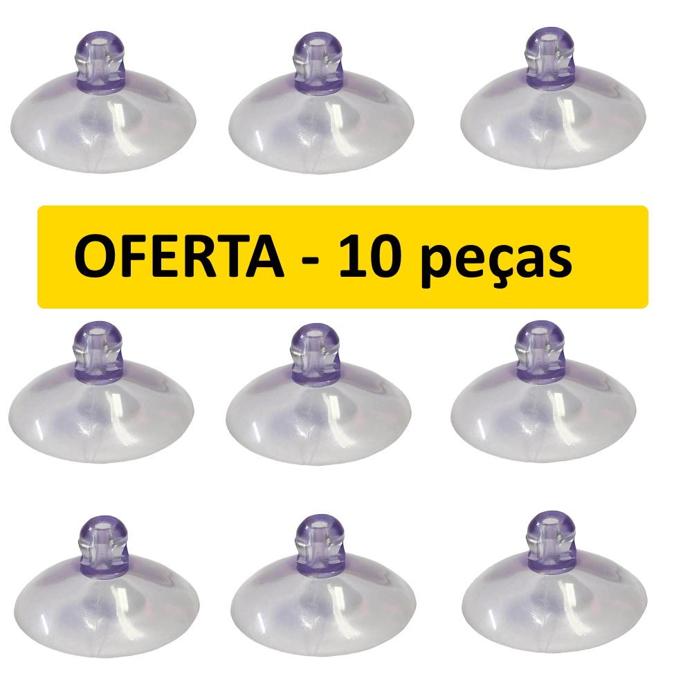 Ventosa de Silicone 40mm Kit Pacote Com 10 Ventosas Oferta