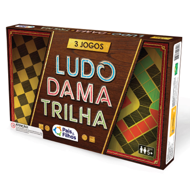 JOGO LUDO/DAMA/TRILHA - PAIS E FILHOS