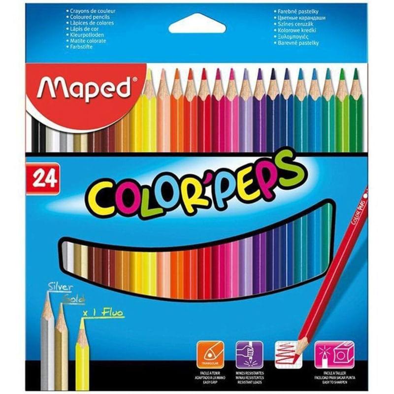 LÁPIS DE COR COLORPEPS 24 CORES - MAPED