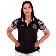 Camisa do ABC - Polo  Casual | Preta | Feminina |  Elefante MQ