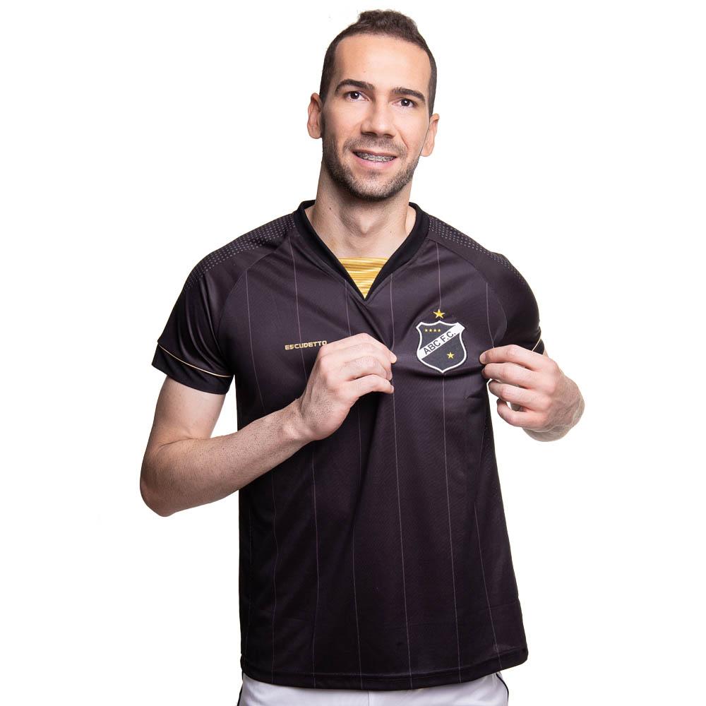 Camisa ABC - Gola V Dourada    Masculina   Escudetto