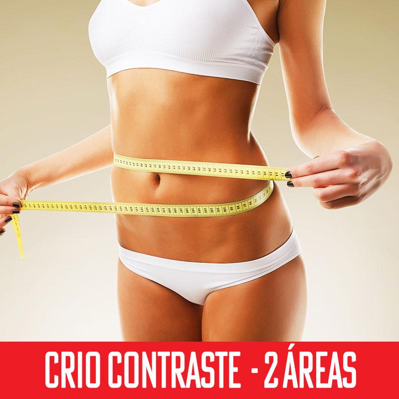 Criolipólise Contraste 2 áreas- abdômen superior + inferior ou flanco esquerdo e direito