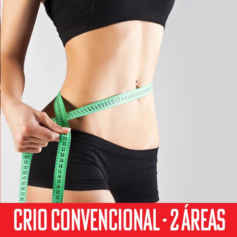 Criolipólise Convencional 2 áreas - abdômen superior, inferior e flancos