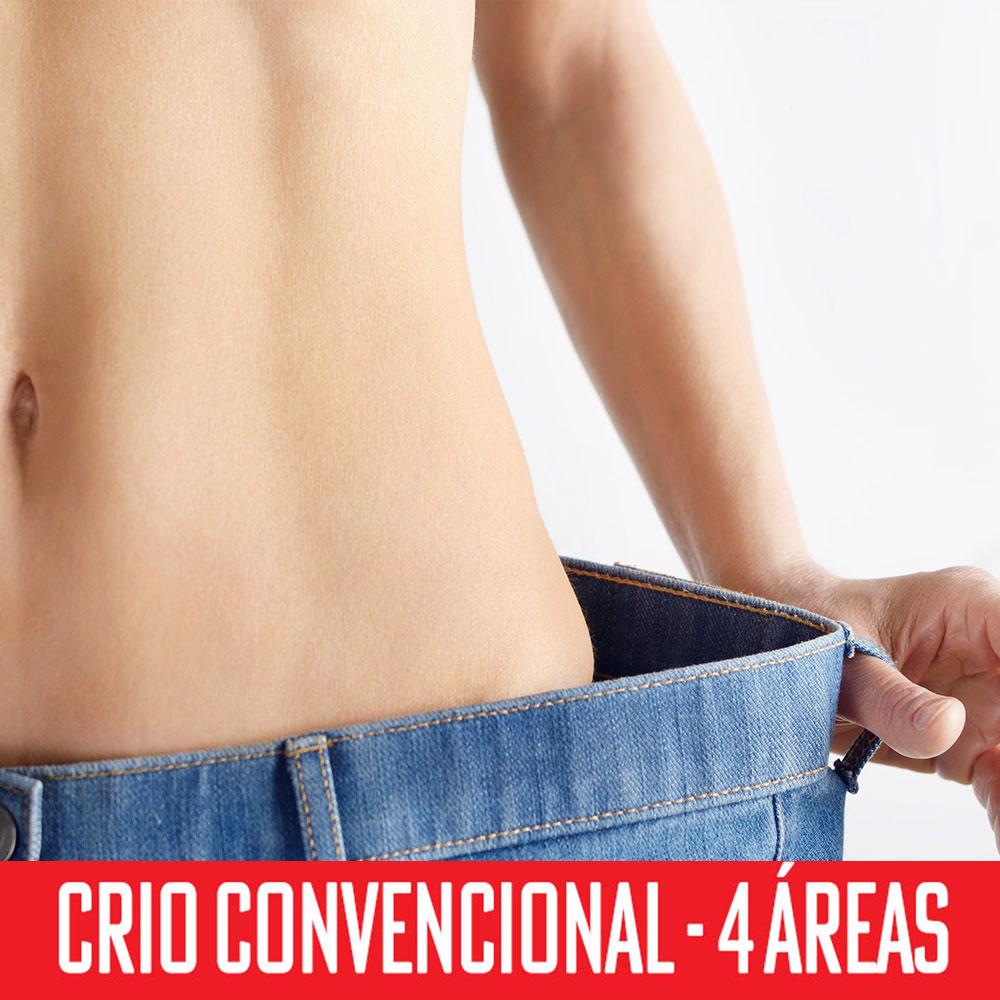 Criolipólise Convencional 4 áreas - abdômen superior, inferior e flancos
