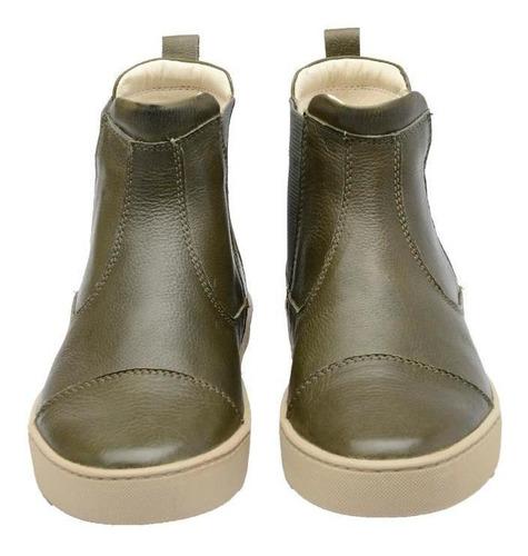 Bota Feminina Boot Couro Elástico Biodegradável Casual
