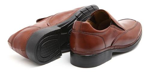 Sapato Social Couro Legítimo Forrado Couro Super Leve