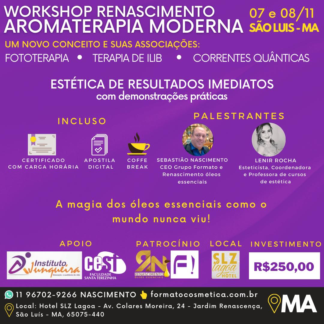 SÃO LUIS MA - WORKSHOP AROMATERAPIA MODERNA