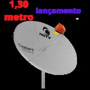 ANTENA PARABÓLICA DIGITAL DE CHAPA 1,30 METRO CINZA CENTURY