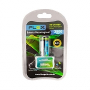 Bateria para Lanterna Tática Recarregável 3800mah FLEX 3.7volts FX-L18650