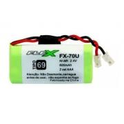 Bateria Telefone sem Fio  FX-70u aaa Flex Gold 2,4v 600mah