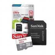 Cartão de Memória Micro SD 32GB 100Mbs SanDisk