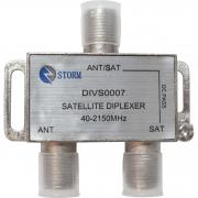 DIVISOR DIPLEXER VHF/UHF/SAT 40-2150 MHZ STORM