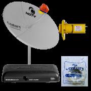 Kit Antena Parabólica Chapa Digital HDTV 1,30 metro Century