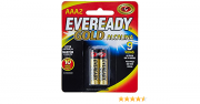 Pilha AAA2 Alcalina Gold Palito Cartela com 2 Pilhas 1,5vcc Eveready
