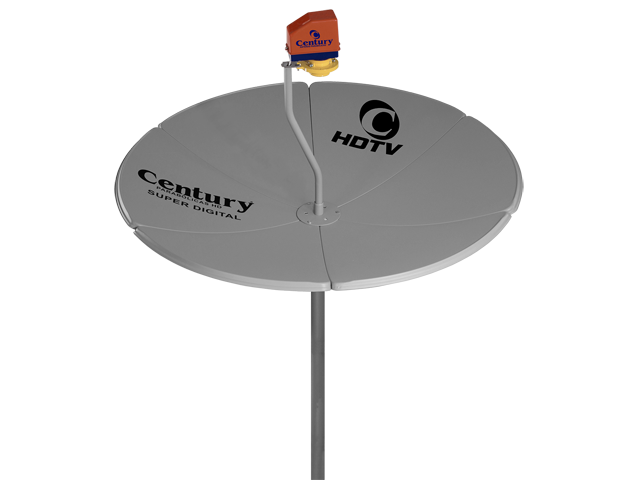 Antena Parabolica Digital 1.50M Banda C Century Cinza
