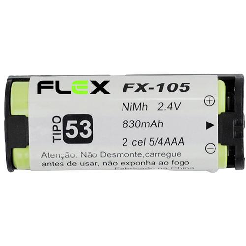 BATERIA TELEFONE SEM FIO FLEX FX-105 aaa 2.4V 830MAH