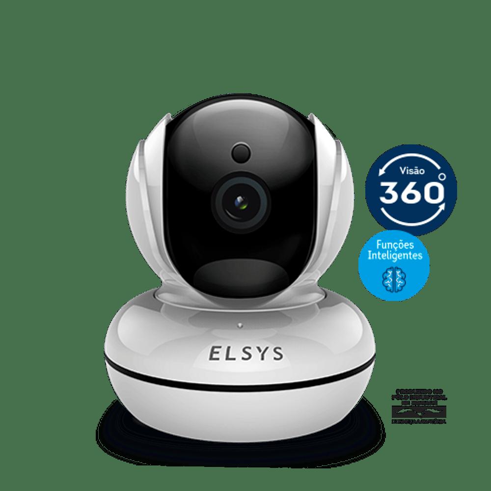 Câmera de segurança WI-FI HD Rotacional Inteligente Elsys